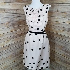 Kate Spade Silk Pale Pink Polka Dot Dress Sz 6